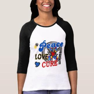 Peace Love Cure 2 Autism Tee Shirt