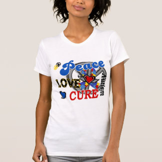 Peace Love Cure 2 Autism Tee Shirts