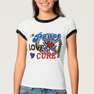 Peace Love Cure 2 Autism Tees