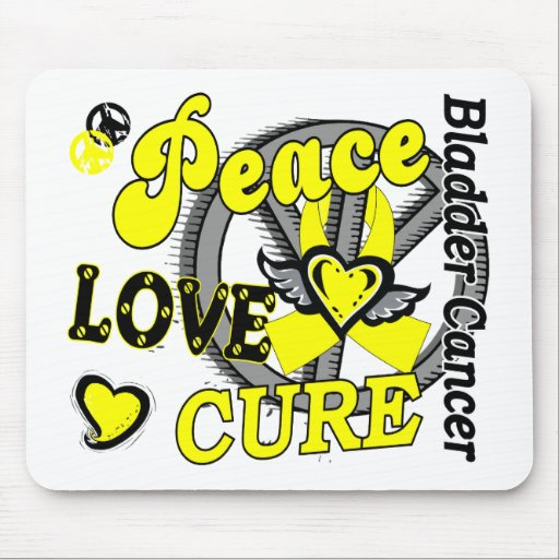 Peace Love Cure 2 Bladder Cancer Mouse Pad