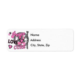 Peace Love Cure 2 Breast Cancer Return Address Label