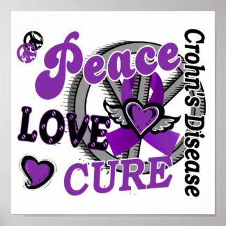 Peace Love Cure 2 Crohn s Disease Print