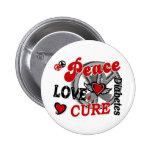 Peace Love Cure 2 Diabetes Badge