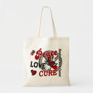 Peace Love Cure 2 Head Neck Cancer Canvas Bags
