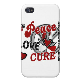 Peace Love Cure 2 Head Neck Cancer iPhone 4 Covers