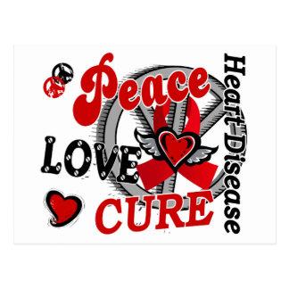 Peace Love Cure 2 Heart Disease Postcard