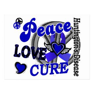 Peace Love Cure 2 Huntington's Disease Postcard