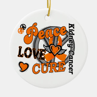 Peace Love Cure 2 Kidney Cancer Christmas Ornament