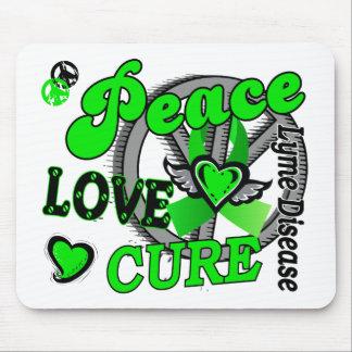 Peace Love Cure 2 Lyme Disease Mousepads