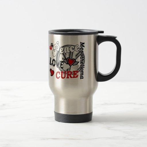 Peace Love Cure 2 Mesothelioma Coffee Mug