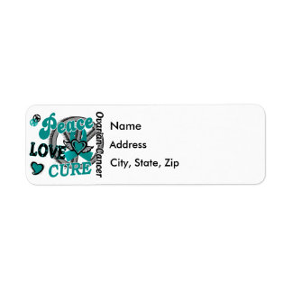 Peace Love Cure 2 Ovarian Cancer Return Address Label