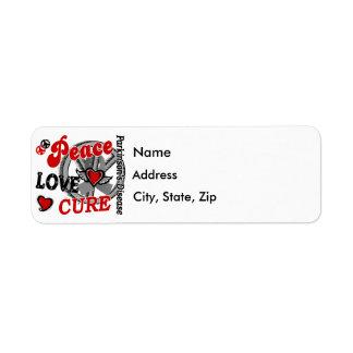 Peace Love Cure 2 Parkinson's Disease Return Address Label