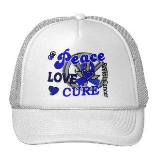Peace Love Cure 2 Rectal Cancer / Anal Cancer Mesh Hats