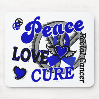 Peace Love Cure 2 Rectal Cancer Anal Cancer Mouse Pad