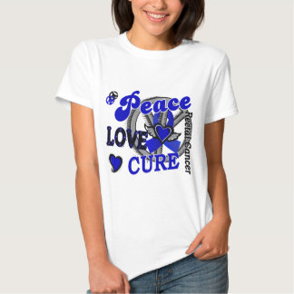 Peace Love Cure 2 Rectal Cancer / Anal Cancer Tee Shirt