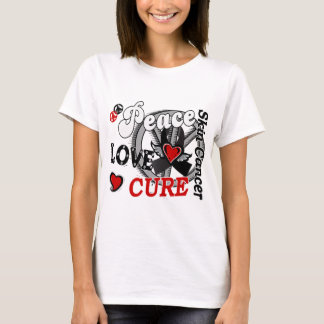 Peace Love Cure 2 Skin Cancer T-Shirt