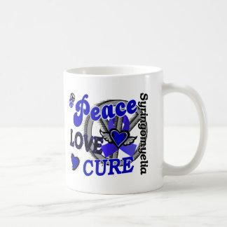 Peace Love Cure 2 Syringomyelia Basic White Mug