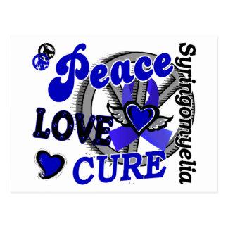 Peace Love Cure 2 Syringomyelia Postcard