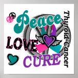 Peace Love Cure 2 Thyroid Cancer Print