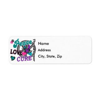Peace Love Cure 2 Thyroid Cancer Return Address Label
