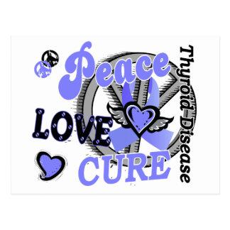 Peace Love Cure 2 Thyroid Disease Postcard