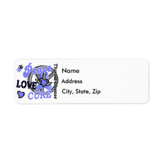 Peace Love Cure 2 Thyroid Disease Return Address Label
