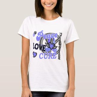 Peace Love Cure 2 Thyroid Disease T-Shirt