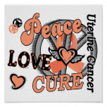 Peace Love Cure 2 Uterine Cancer