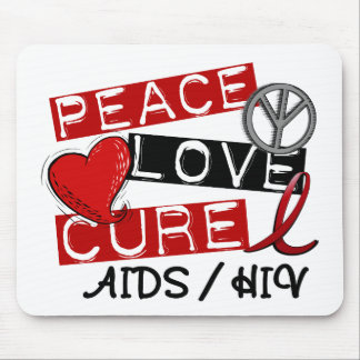Peace Love Cure AIDS HIV Mouse Pad