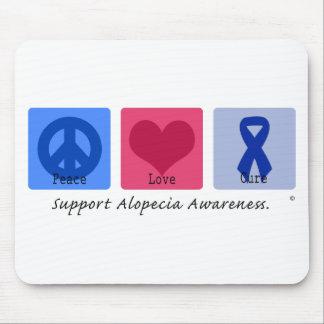Peace Love Cure Alopecia Mouse Pad
