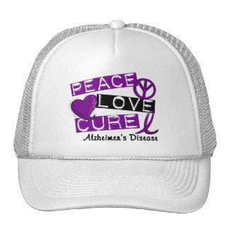 PEACE LOVE CURE ALZHEIMER'S DISEASE HATS
