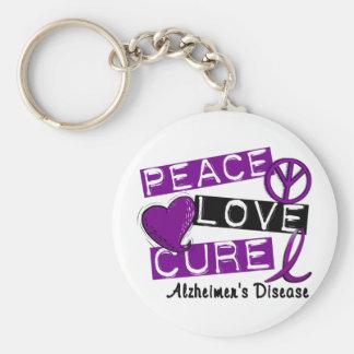 PEACE LOVE CURE ALZHEIMER'S DISEASE KEY RING