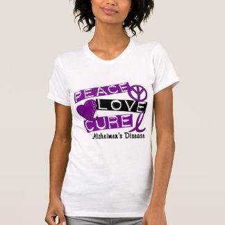 PEACE LOVE CURE ALZHEIMER'S DISEASE T-Shirt