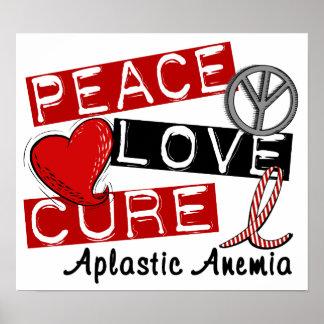 Peace Love Cure Aplastic Anemia Print