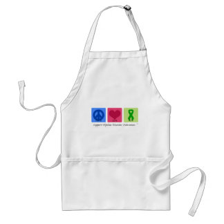 Peace Love Cure Bipolar Disorder Standard Apron