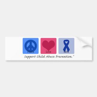 Peace Love Cure Child Abuse Bumper Sticker