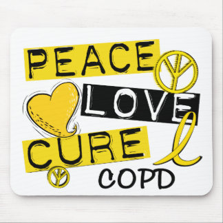 Peace Love Cure COPD 1 Mouse Pad