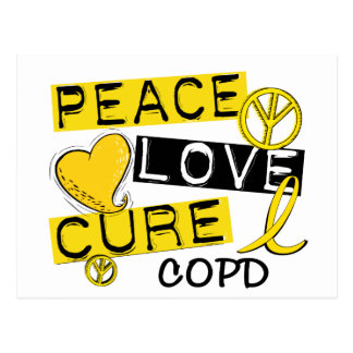 Peace Love Cure COPD 1 Postcard