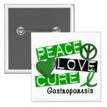 Peace Love Cure Gastroparesis 15 Cm Square Badge