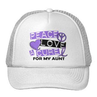 Peace Love Cure H Lymphoma Aunt Trucker Hat