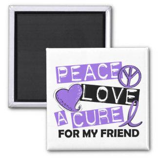 Peace Love Cure H Lymphoma Friend Refrigerator Magnet