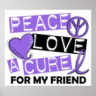 Peace Love Cure H Lymphoma Friend Posters