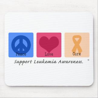Peace Love Cure Leukemia Mouse Pad