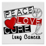 Peace Love Cure Lung Cancer Posters