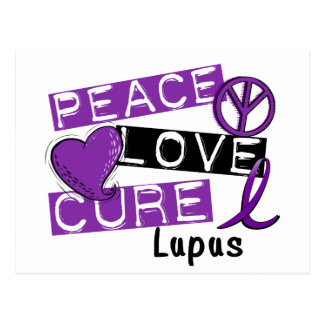 Peace Love Cure Lupus Postcard