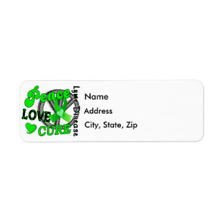 Peace Love Cure Lyme Disease 2 Return Address Label