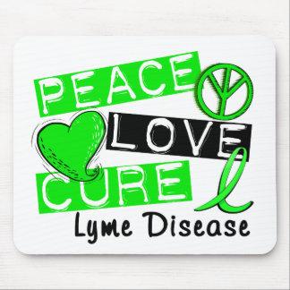 Peace Love Cure Lyme Disease Mouse Pads