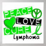 Peace Love Cure Lymphoma Print