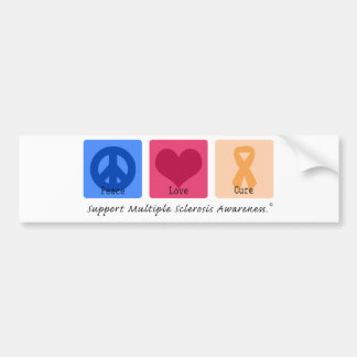 Peace Love Cure Multiple Sclerosis Bumper Sticker