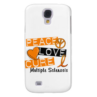 Peace Love Cure Multiple Sclerosis MS Galaxy S4 Case